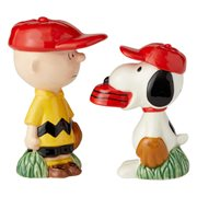 Peanuts Charlie Brown and Snoopy Baseball Salt and Pepper Shaker Set