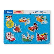 Mickey Mouse and Friends Vehicles Wooden Sound Puzzle