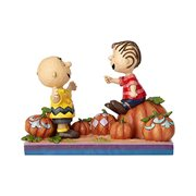 Peanuts Charlie Brown and Linus Pumpkin Patch Pals Statue by Jim Shore