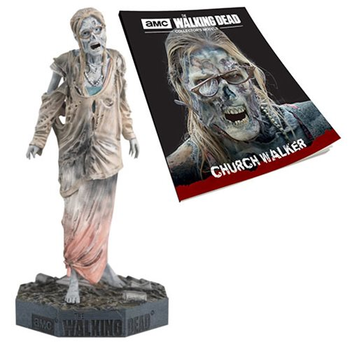 The Walking Dead Church Walker Figure with Collector Magazine #24