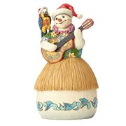 Margaritaville Tropical Snowman with Parrot Guitar Strummin My Six String All Season Heartwood Creek Statue by Jim Shore