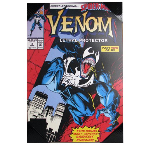 Spider-Man Venom Lethal Protector Wood Wall Art