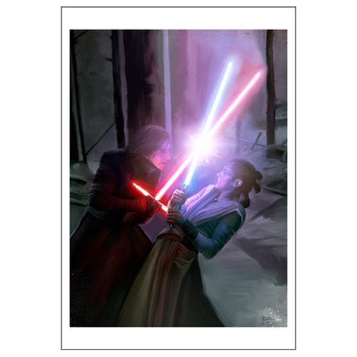 Star Wars: The Force Awakens Where There Is Darkness, There Is Light by Brian Rood Paper Giclee Art Print