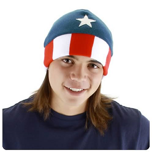 Captain America Knit Beanie Hat