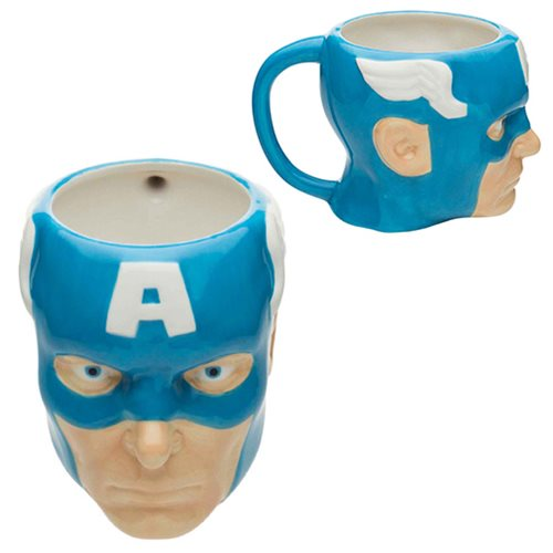 Captain America Ceramic Molded Mug