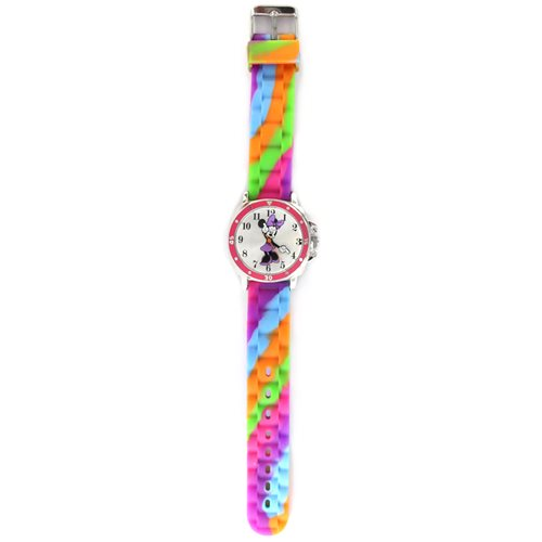 Minnie Mouse Stripe Printed Silicone Watch