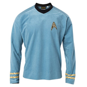 Star Trek the Original Series 50th Anniversary Sciences Blue Velour Line Tunic