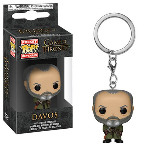 Game of Thrones Davos Pocket Pop! Key Chain