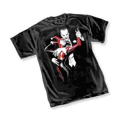 Batman Alex Ross Joker and Harley Quinn T-Shirt