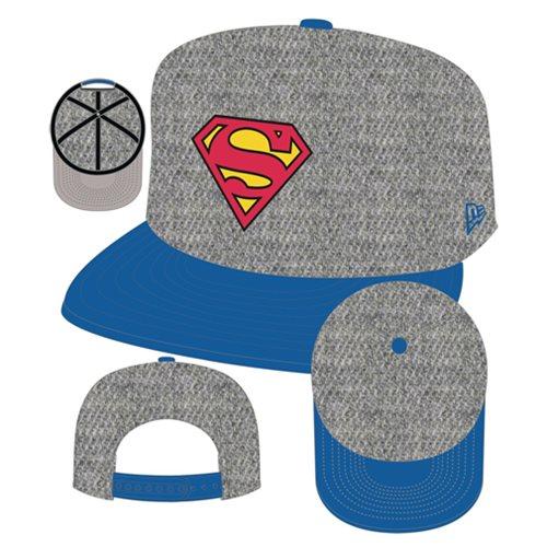 new product d1c2f 1d331 Superman Logo Heather Action Snapback Hat
