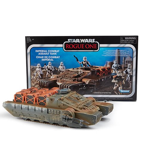 Star Wars The Vintage Collection Rogue One Imperial Combat Assault Hovertank Vehicle, Not Mint