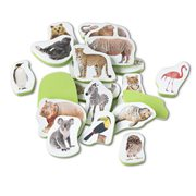 Melissa & Doug Tub Stickables Wild Animals Soft Shapes Bath Toy