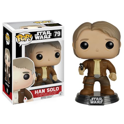 Star Wars: The Force Awakens Han Solo Pop! Vinyl Bobble Head