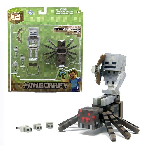 Minecraft Population Spider Jockey 3-Inch Action Figure Set