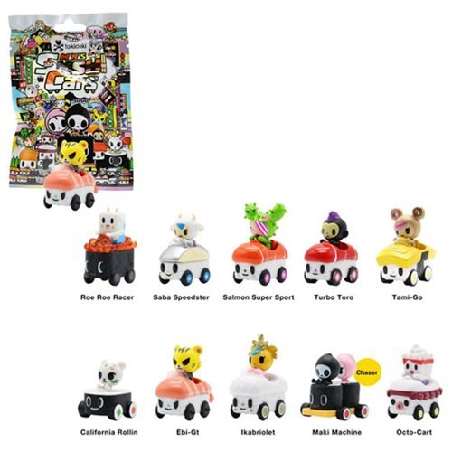 Tokidoki Sushi Cars Mini-Figures 16-Pack Display Tray