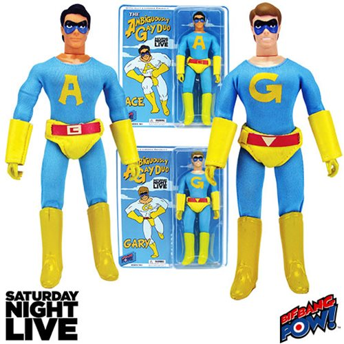 Saturday Night Live The Ambiguously Gay Duo Ace and Gary 8-Inch Action Figures Set