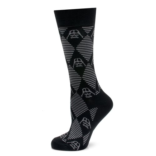 Star Wars Darth Vader Argyle Stripe Black Socks