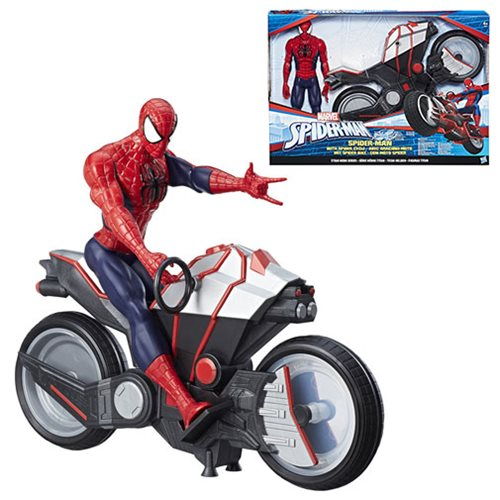 Spider-Man Titan Hero Series Spider-Man Figure with Spider Cycle Vehicle