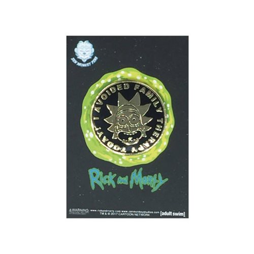 Rick and Morty I Avoided Family Therapy Lapel Pin