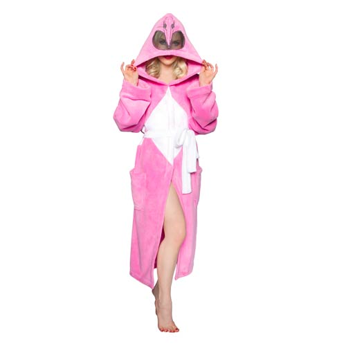 Mighty Morphin Power Rangers Pink Ranger Hooded Bath Robe with Mesh Mask