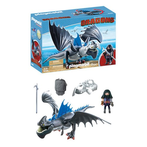 Playmobil 9248 How to Train Your Dragon Drago and Thunderclaw Figure Set