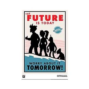 Futurama The Future Is Today LE Unframed Giclee Print