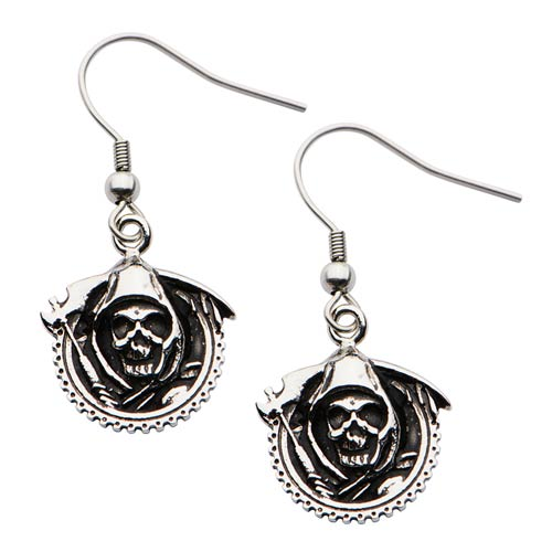 Sons of Anarchy Reaper Dangle Earrings