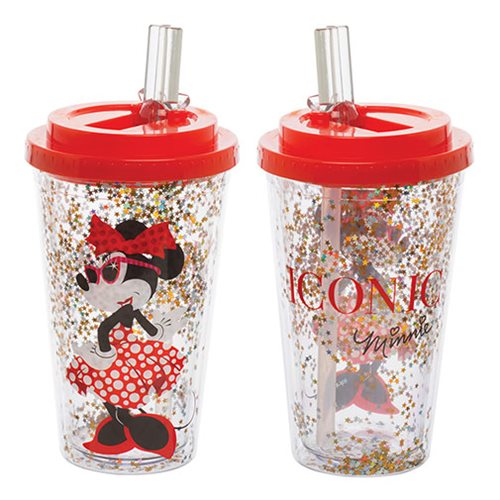 Minnie Mouse 16 oz. Flip-Straw Acrylic Cup