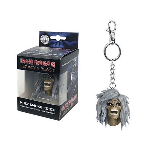 Iron Maiden Legacy of the Beast Holy Smokes Head Key Chain