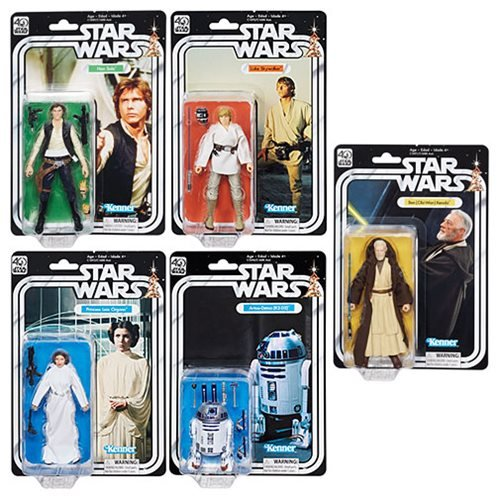 Star Wars Black Series 40th Anniversary 6-Inch Action Figures Wave 1