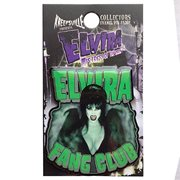 Elvira Fang Club Pin Badge