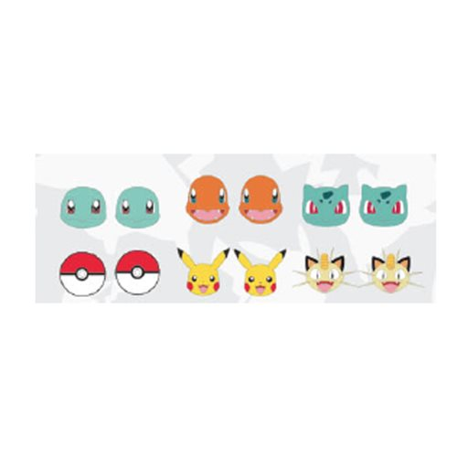 Pokemon Starters Earring 6-Pack