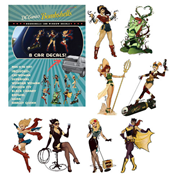 DC Comics Bombshells Car Window Decal Pack
