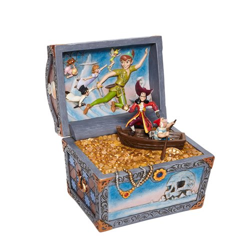 Disney Traditions Peter Pan Treasure Chest Scene Treasure-Strewn Tableau by Jim Shore Statue