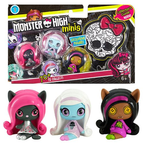 Monster High Minis 3-Pack Mini-Figures Case