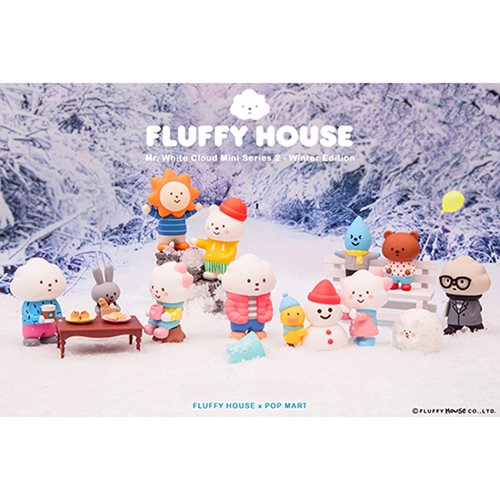 Mr. White Cloud Mini Series 2 Winter Edition Random Blind Box Vinyl Figure 12-Piece Case Pack