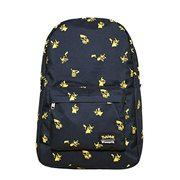 Pokemon Pikachu Print Black Nylon Backpack