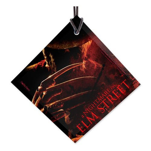 Nightmare On Elm Street Freddy StarFire Prints Hanging Glass Ornament