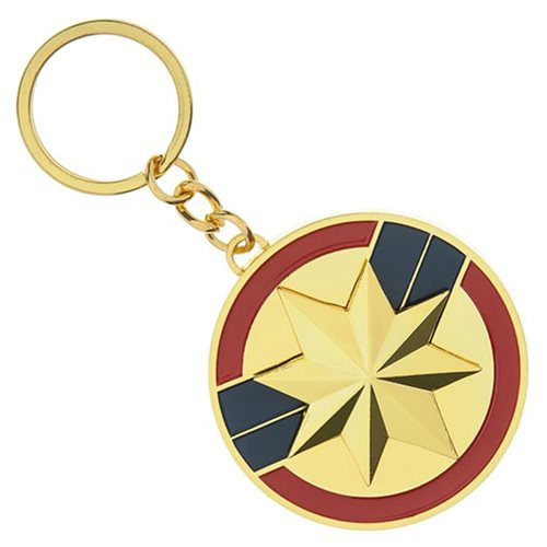 Captain Marvel Spinning Key Chain