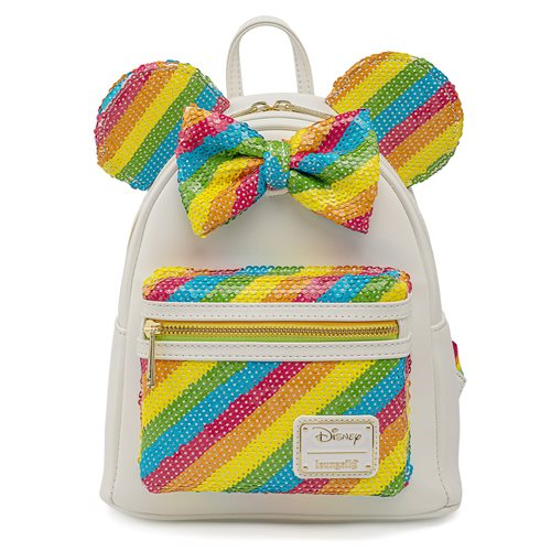 Minnie Mouse Rainbow Sequins Mini-Backpack