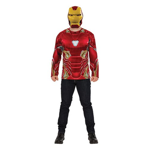 Avengers: Infinity War Iron Man Costume Top with Mask