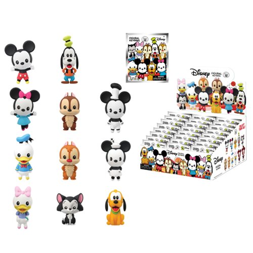 Disney Series 10 3-D Figural Key Chain Random 6-Pack