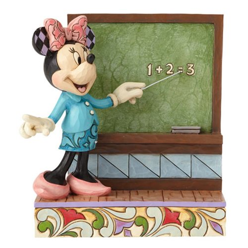 Disney Traditions Teacher Minnie Mouse Class Act Statue