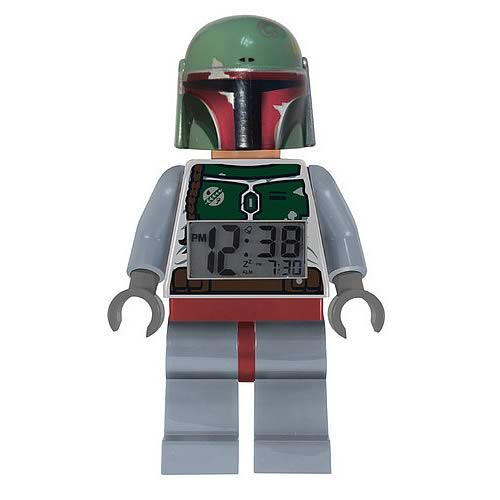 LEGO Star Wars Boba Fett Minifigure Clock