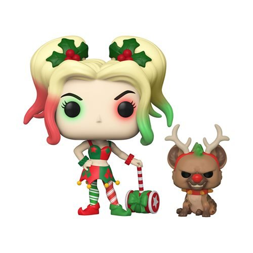DC Holiday Harley Quinn Pop! Vinyl Figure with Helper Buddy