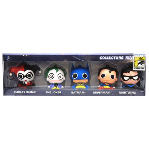 DC Comics 3D Foam Key Chain Collector 5-Pack - San Diego Comic-Con 2015 Exclusive