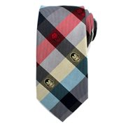 Marvel Comics Plaid Mens Silk Tie