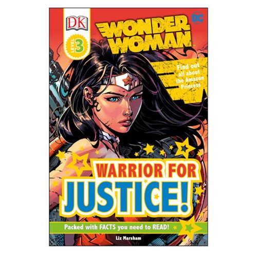 DC Comics Wonder Woman: Warrior for Justice DK Readers 3 Hardcover Book