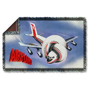 Airplane Poster Woven Tapestry Blanket