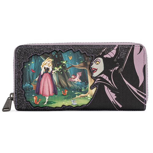 Sleeping Beauty Maleficent Zip-Around Wallet